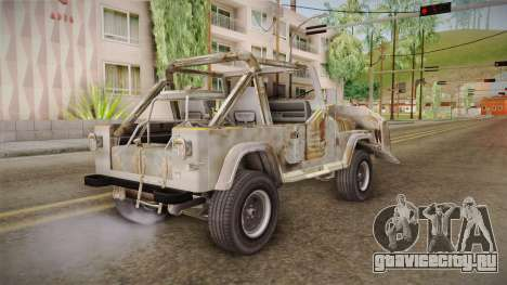 Jeep Wrangler Mad Max Style для GTA San Andreas вид сзади слева