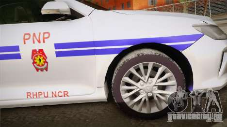 Toyota Camry Manila Police для GTA San Andreas вид сзади слева