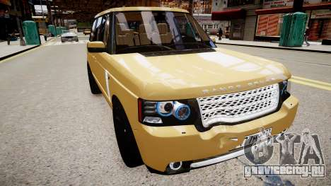Land Rover Supercharged 2012 для GTA 4 вид справа