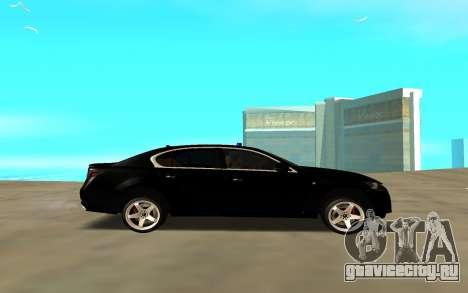 Lexus GS для GTA San Andreas вид слева