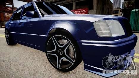 Mercedes-Benz W124 E500 для GTA 4 вид справа