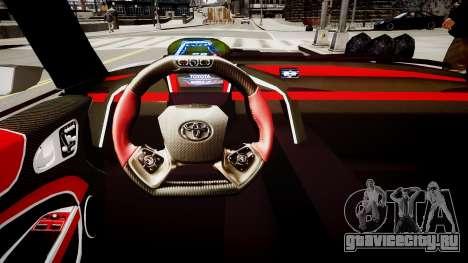 Toyota FTO-1 Concept 2014 для GTA 4 вид изнутри
