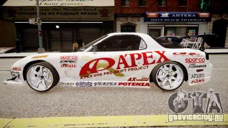 Mazda RX-7 APEXi для GTA 4 вид слева
