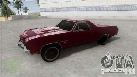 Chevrolet El Camino SS 454 1970 для GTA San Andreas вид справа