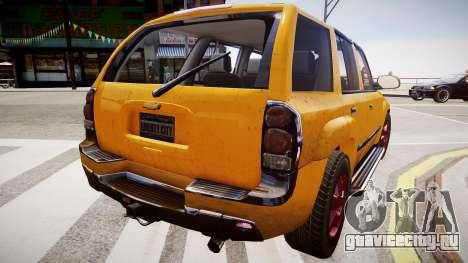 Chevrolet TrailBlazer v2.0 для GTA 4 вид справа