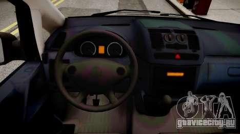 Mercedes-Benz Vito Sport-X для GTA 4 вид изнутри
