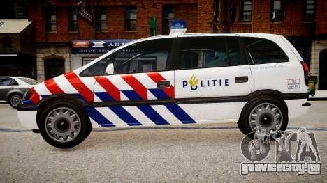 Opel Zafira Police для GTA 4 вид слева