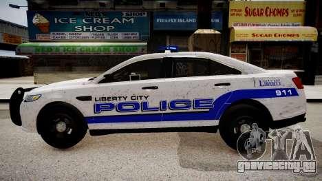 Ford Interceptor Liberty City Police для GTA 4 вид слева