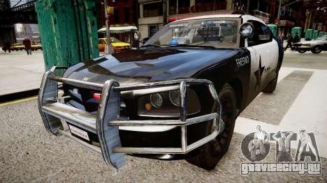 Dodge Charger Police для GTA 4 вид справа