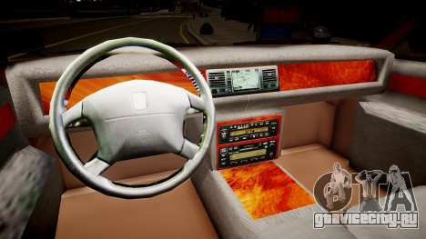Toyota Century 2005 для GTA 4 вид изнутри