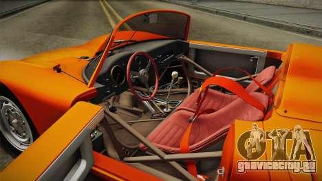 Porsche 718 Spyder RS 1960 для GTA San Andreas вид изнутри