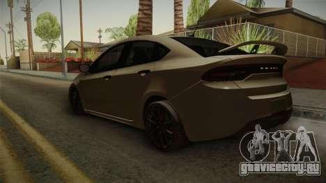 Dodge Dart 2017 для GTA San Andreas вид сзади слева