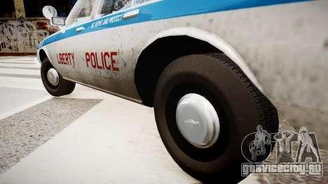 Chevrolet Impala Chicago Police для GTA 4 вид сзади