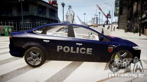 Ford Mondeo Police Nationale для GTA 4 вид слева