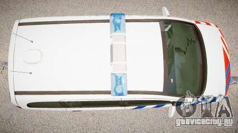 Opel Zafira Police для GTA 4 вид изнутри