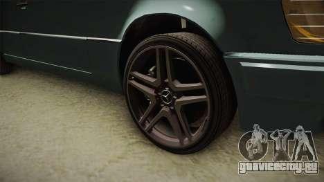 Mercedes-Benz E500 W124 AMG для GTA San Andreas вид сзади