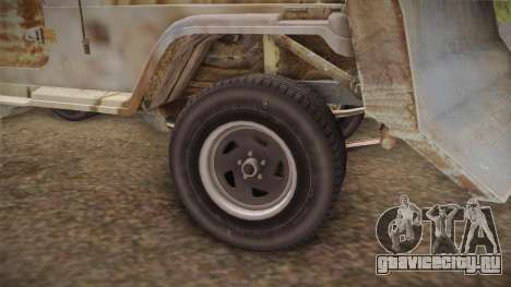 Jeep Wrangler Mad Max Style для GTA San Andreas вид сзади