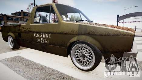 Volkswagen Caddy US Army для GTA 4