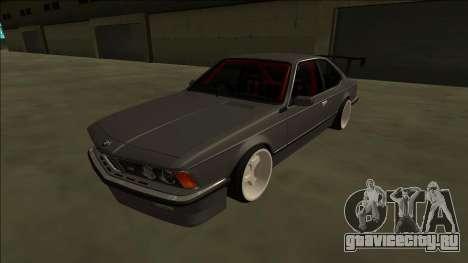 BMW M6 E24 Drift для GTA San Andreas вид сзади слева