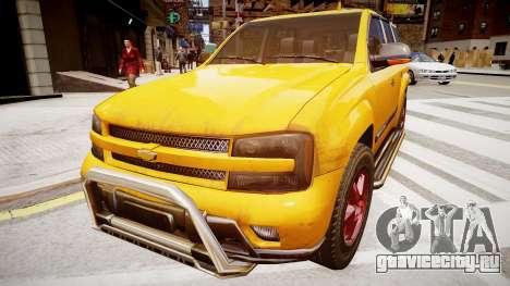 Chevrolet TrailBlazer v2.0 для GTA 4 вид сзади слева