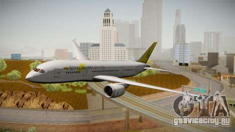 Boeing 787-8 Royal Brunei Airlines для GTA San Andreas вид сзади слева