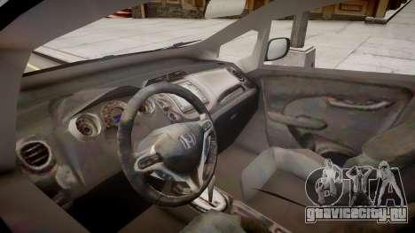 Honda Fit для GTA 4 вид изнутри