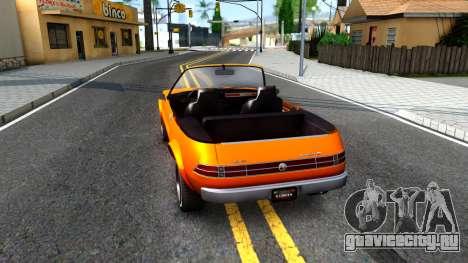 GTA V Declasse Rhapsody Cabrio Style для GTA San Andreas вид сзади слева