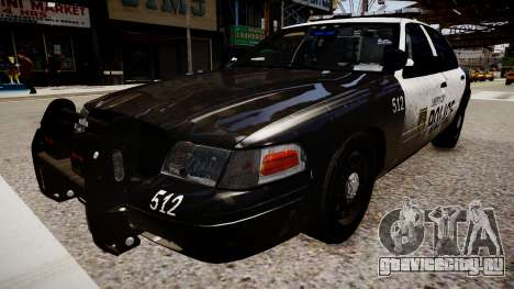 Ford Crown Victoria LCPD Police для GTA 4 вид справа