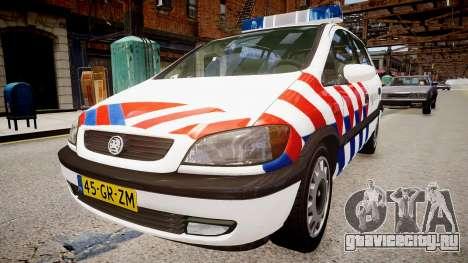 Opel Zafira Police для GTA 4 вид справа