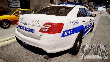 Ford Interceptor Liberty City Police для GTA 4 вид сзади слева