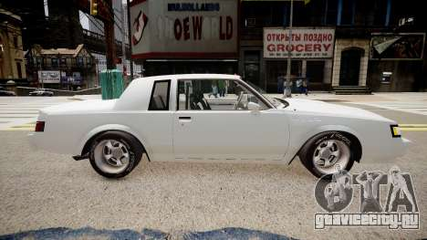 Buick Regal Grand National для GTA 4 вид слева