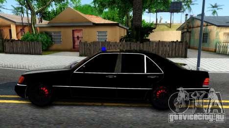 Mercedes-Benz W140 400SE для GTA San Andreas вид слева