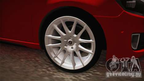 Volkswagen Golf 1.6 для GTA San Andreas вид сзади