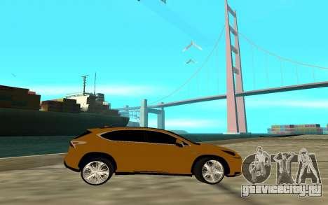 Lexus Nx 200 F-sport для GTA San Andreas вид слева