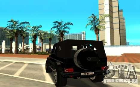 Mercedes-Benz G55 AMG для GTA San Andreas вид сзади слева