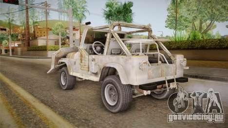 Jeep Wrangler Mad Max Style для GTA San Andreas вид слева