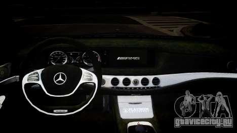Mercedes-Benz S63 AMG W222 WALD для GTA 4 вид изнутри