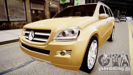Mercedes GL 450 для GTA 4 вид справа