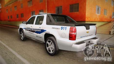 Chevrolet Avalanche 2008 Emergency Management для GTA San Andreas вид слева