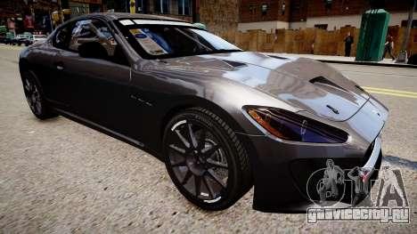 Maserati GranTurismo MC для GTA 4 вид справа