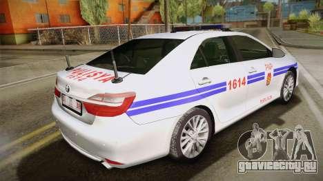 Toyota Camry Manila Police для GTA San Andreas вид слева