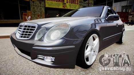 Mercedes-Benz AMG E320 W211 для GTA 4 вид справа