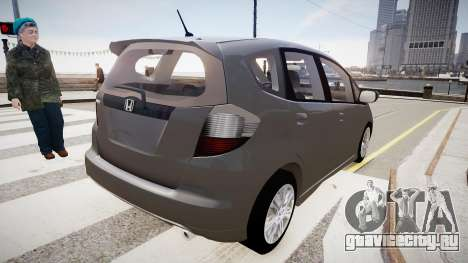 Honda Fit для GTA 4 вид сзади слева