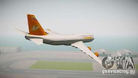 Boeing 747-8I Conviasa для GTA San Andreas вид слева