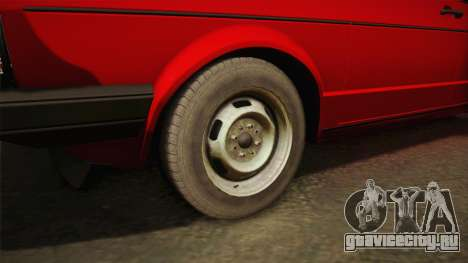 Volkswagen Jetta Mk1 для GTA San Andreas вид сзади
