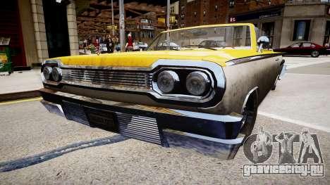 Voodoo Cabrio для GTA 4 вид сзади слева