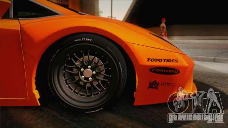 Lamborghini Gallardo Liberty Walk для GTA San Andreas вид сзади слева