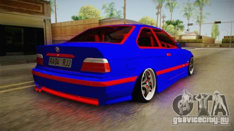 BMW 3 Series E36 Urechea Stelista Edition для GTA San Andreas вид слева