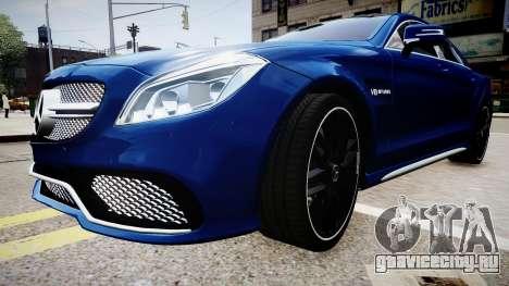 Mercedes-Benz CLS 63 AMG W218 2015 для GTA 4 вид справа