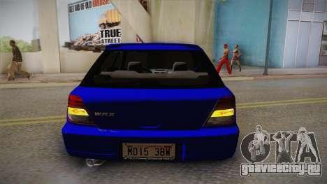 Subaru Impreza Wagon 2004 для GTA San Andreas вид сбоку